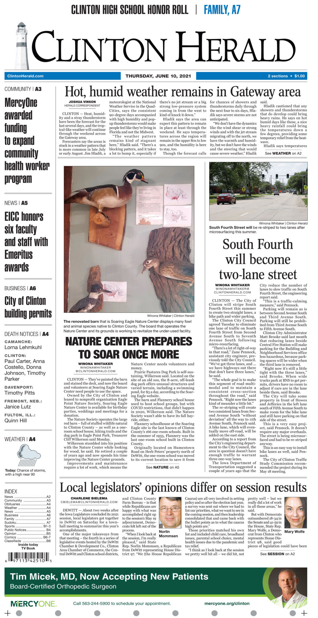June 10, 2021 Front page