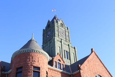 clinton courthouse clock tower from back