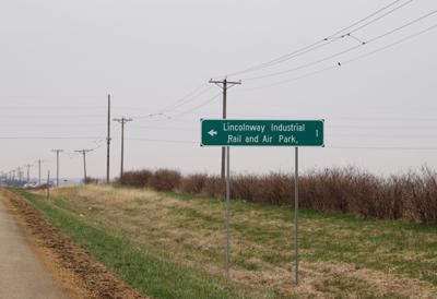 Lincolnway Industrial Rail and Air Park sign
