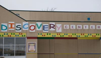 discovery center sign close up