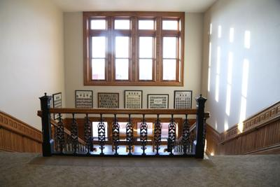 Inside Clinton County courthouse