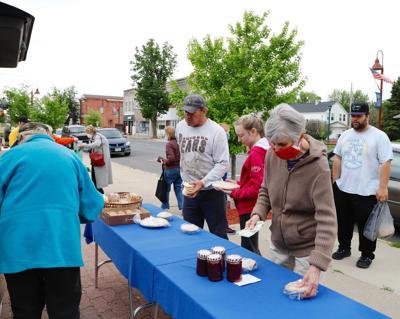 buying baked goods at Lyons Farmer's Market
