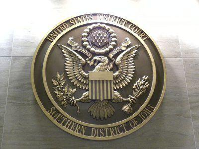 U.S. district court southern Iowa emblem