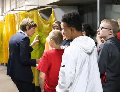 Gov  Reynolds visits Clinton High School apprenticeship