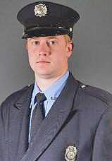 Firefighter Adam Cain