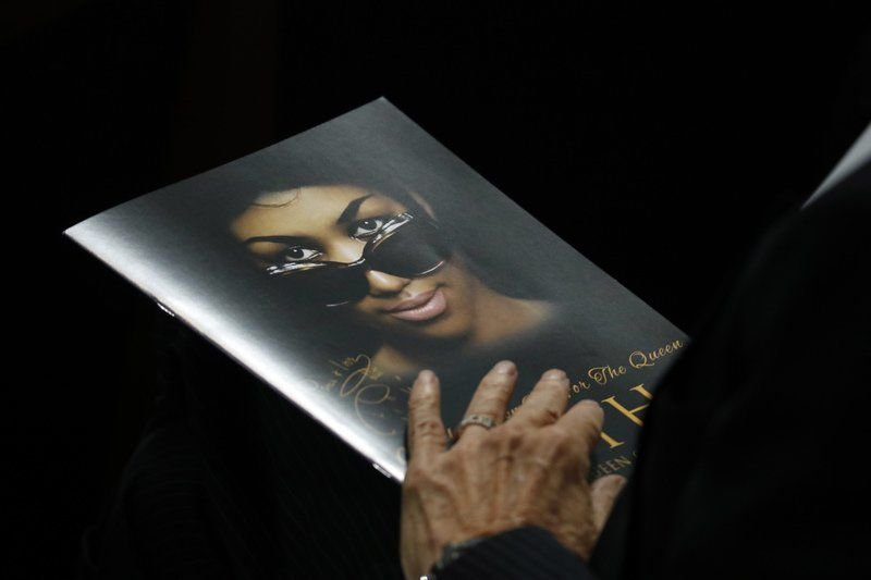 Funeral for Franklin fills church with prayers and stars