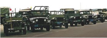 Military convoy