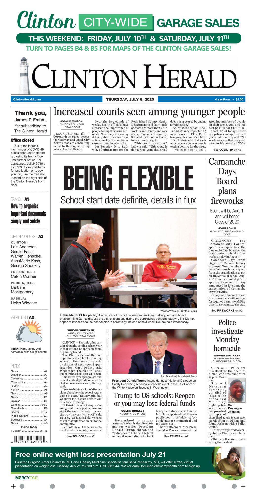 July 9, 2020 Front page