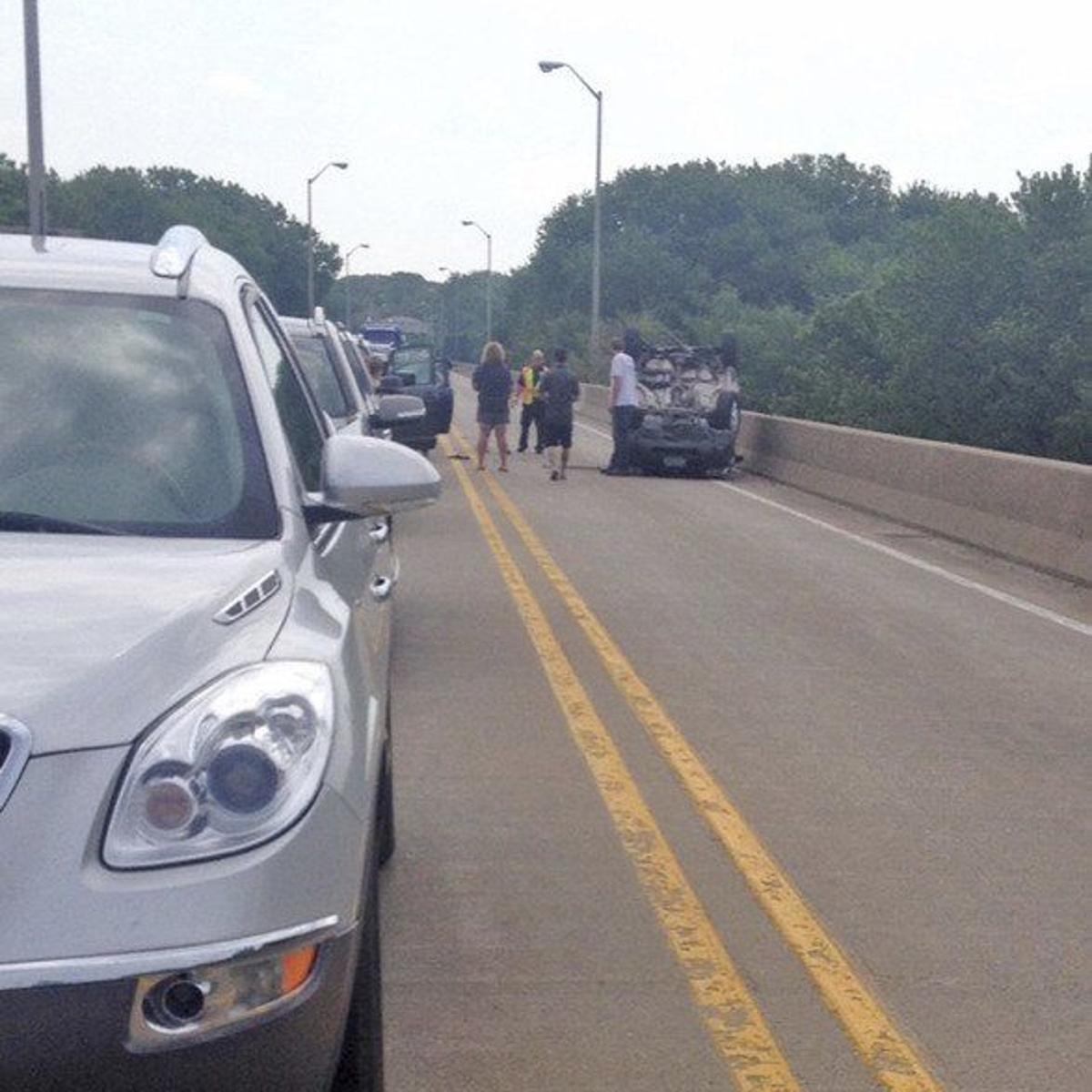 UPDATE: Vehicle flips on South Bridge | Local News