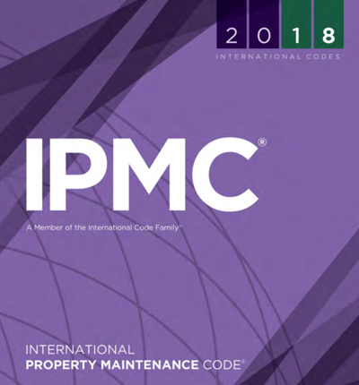 screen shot, page 1 of 2018 International Property Maintenance Code
