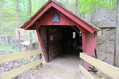 covered bridge in heritage canyon