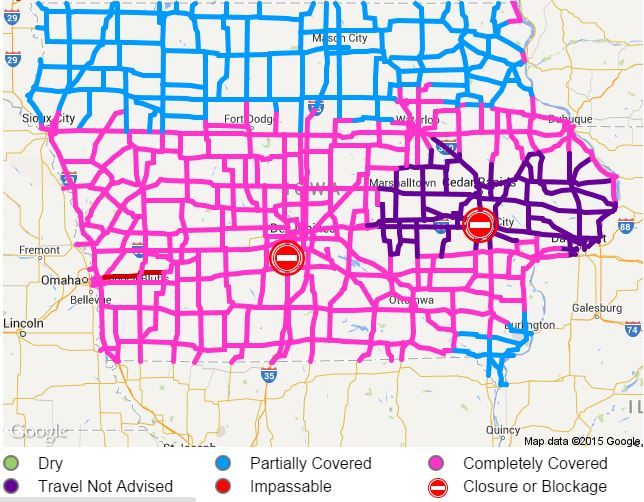 Road Conditions In Iowa Map.Map Of Iowa Road Conditions Creativehobby Store