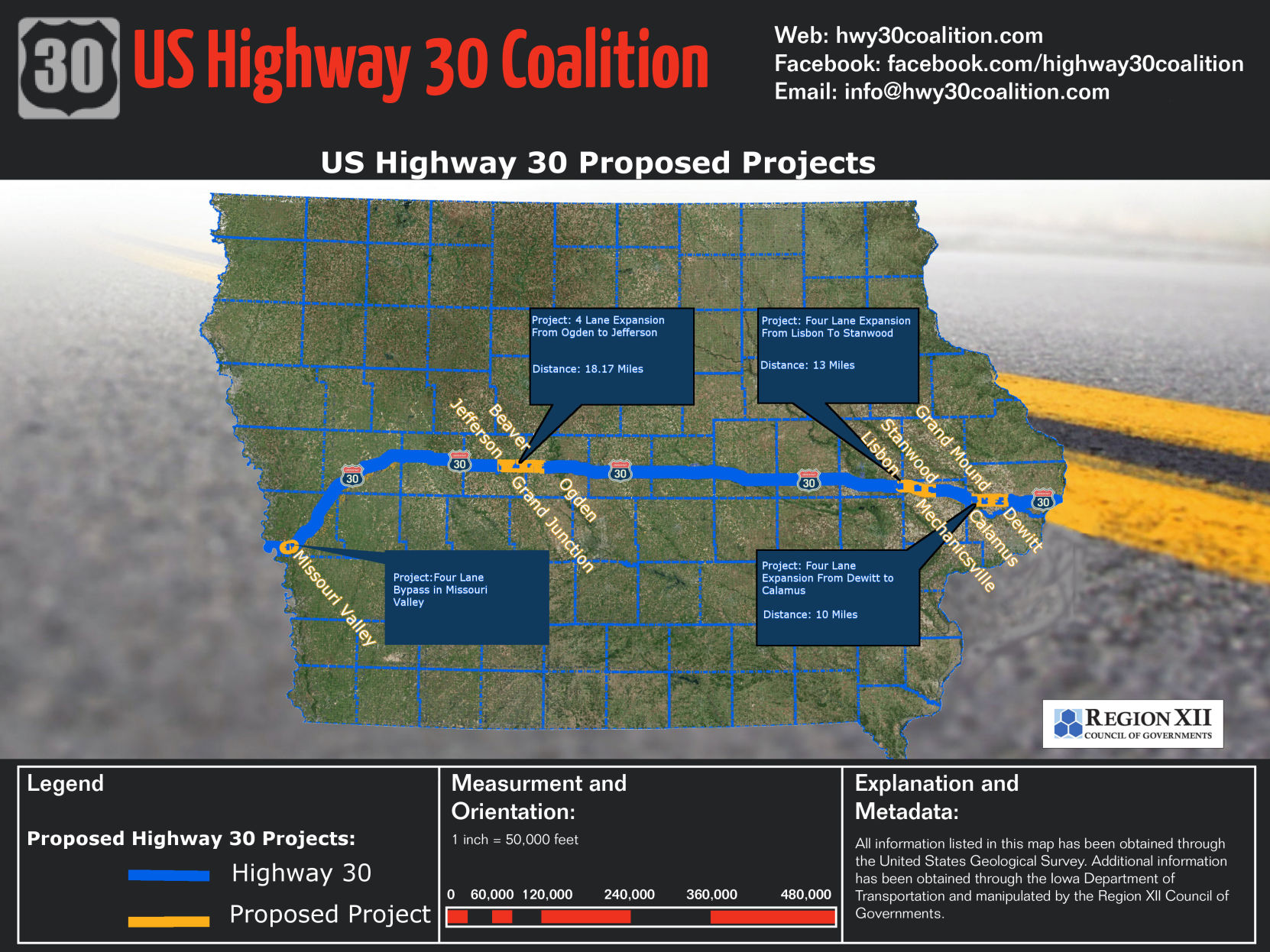 UPDATE 4 fourlane projects designated priority by Iowa