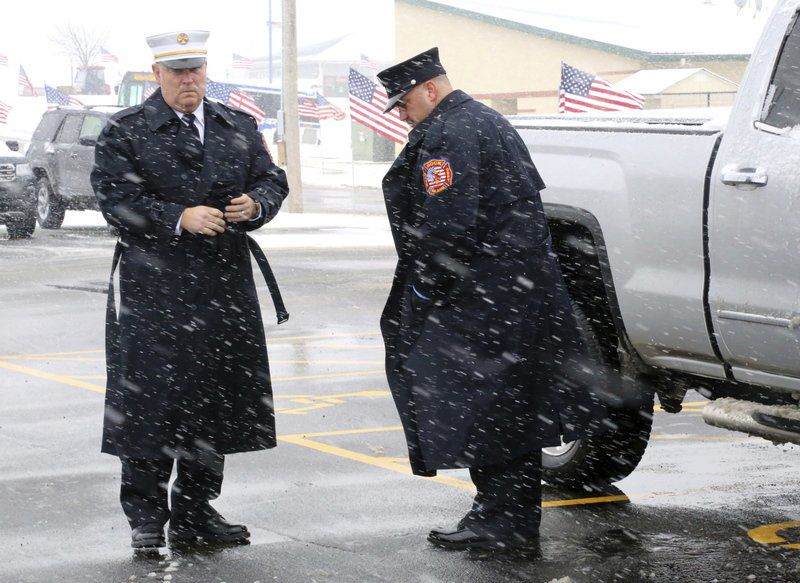 Hundreds gather to pay final respects to Clinton firefighter