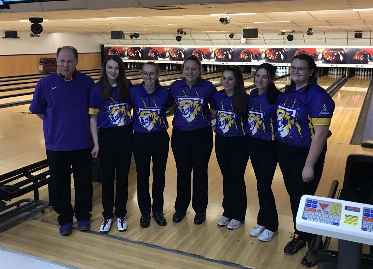 Central DeWitt girls bowling