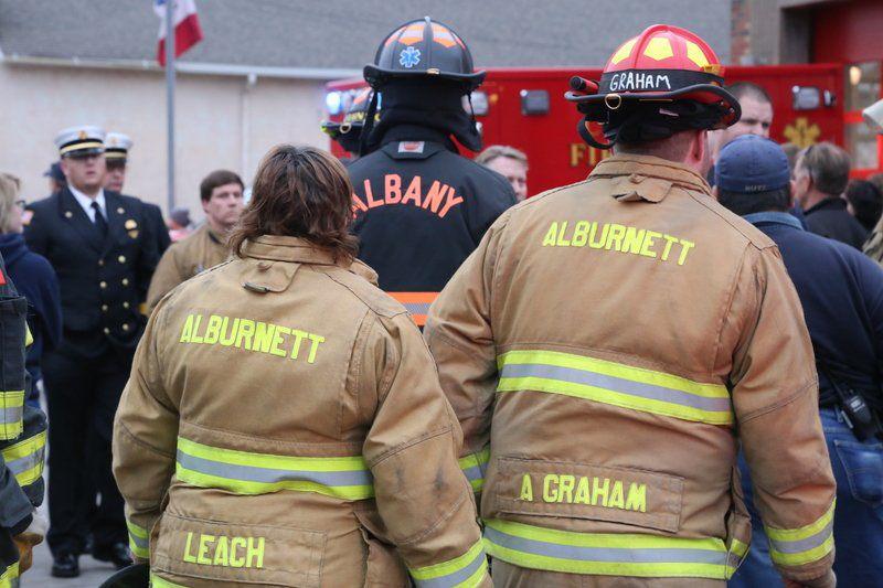 Firefighters journey toward Clinton