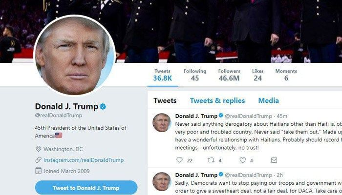 Donald Trump's immigration controversy response in 6 tweets