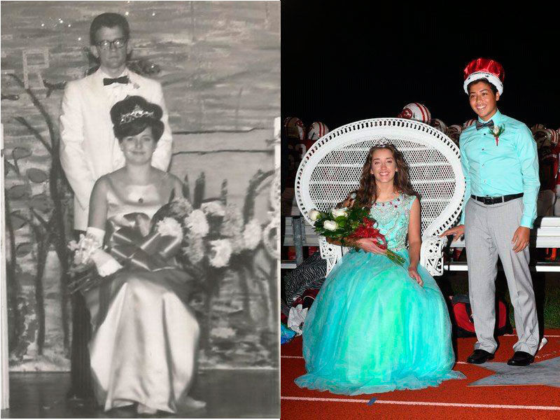 Royalty runs in the family: Illinois teen follows grandmother's homecoming  queen footsteps