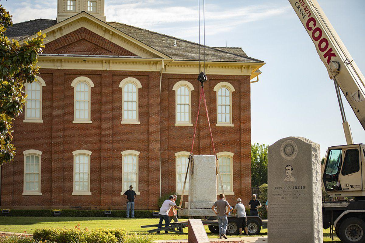 Cherokee Nation removes Confederate monuments from historic Capitol Square