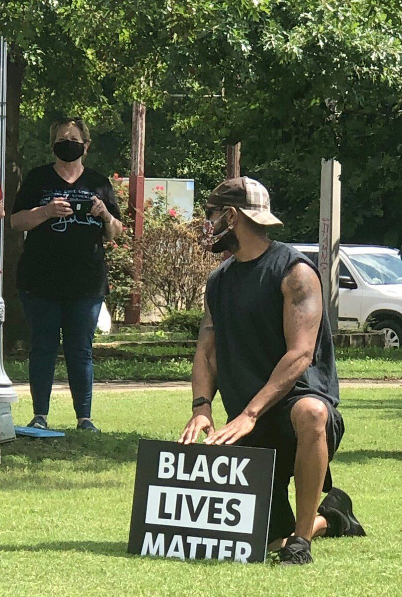 TENSION AT NOON: Local man confronts weekday protesters, blames teachers' unions, 'Antifa' for trouble
