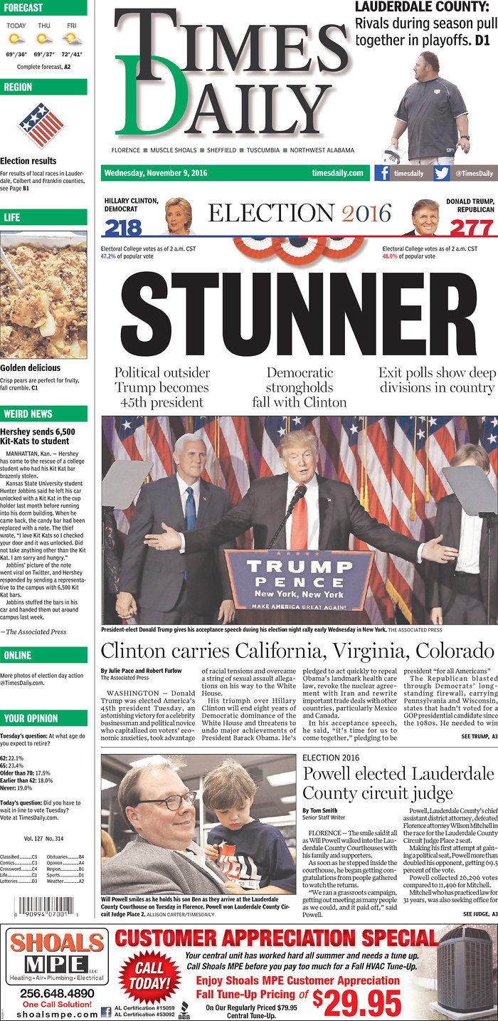 GALLERY: Headlines around the world showcase Trump election