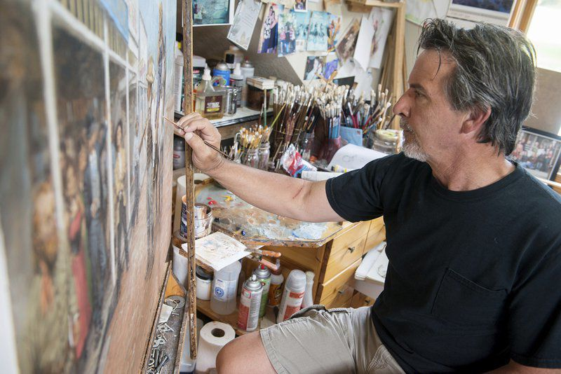 Nationally recognized artist Andy Thomas paints a glimpse of the future