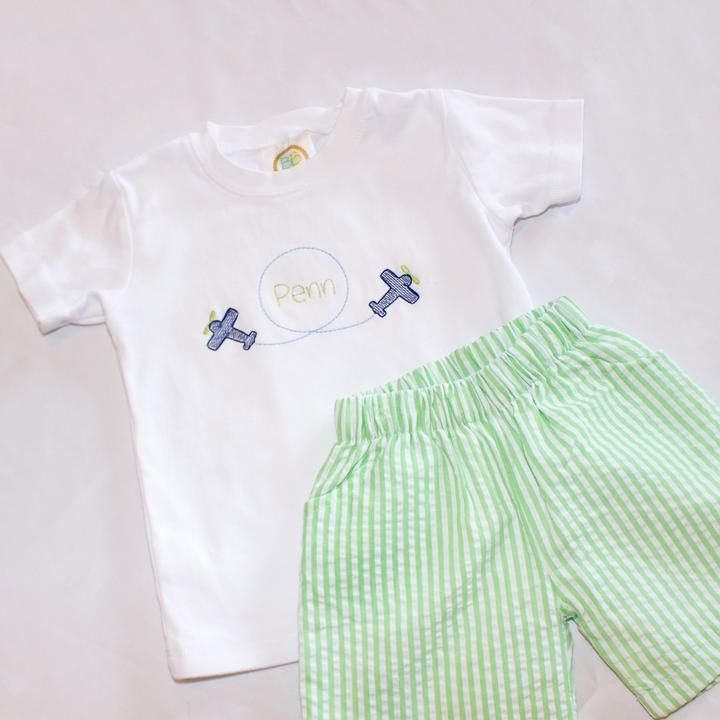 Embroidered children's items from Muddy Oaks