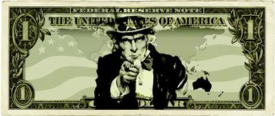 Uncle Sam Dollar Money