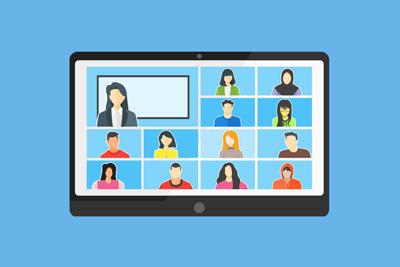 Online learning screen