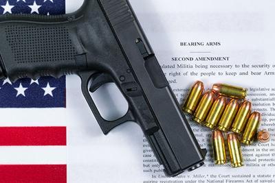 Gun Flag Second Amendment File photo