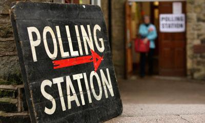 Vote polling station