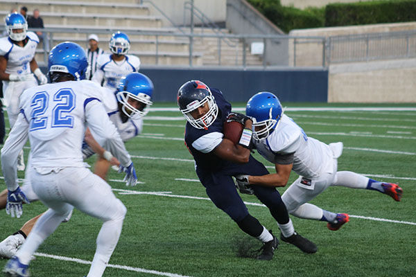 Pirate football dominates in commanding win over SMC