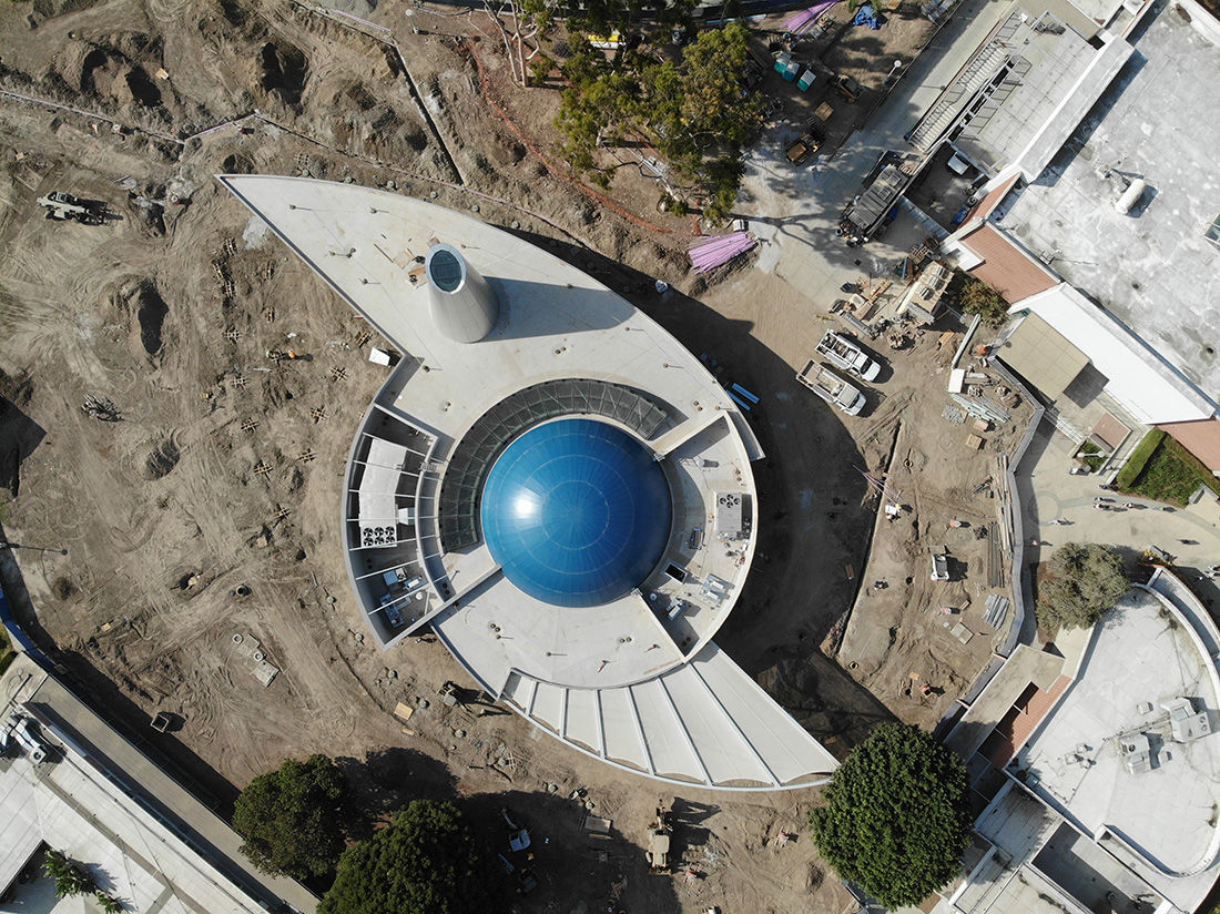 Planetarium under construction - from above