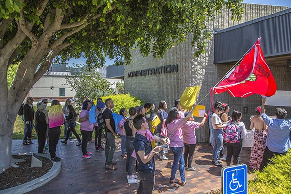 Protesters demand administrative action
