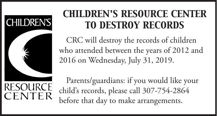 009775_childrens_resource_center_destroy_records_2019_records_notice