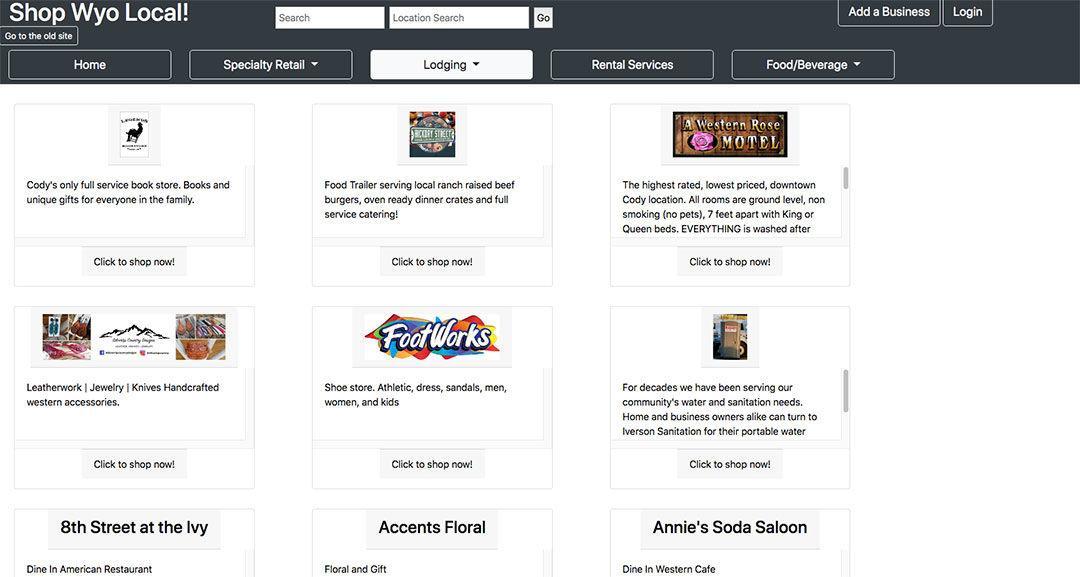 Website helps people shop local