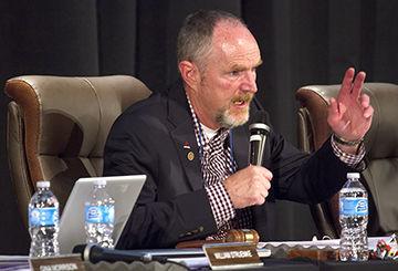 School board chairman Jake Fulkerson