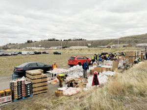 Food bank Tuesday at Rodeo Grounds