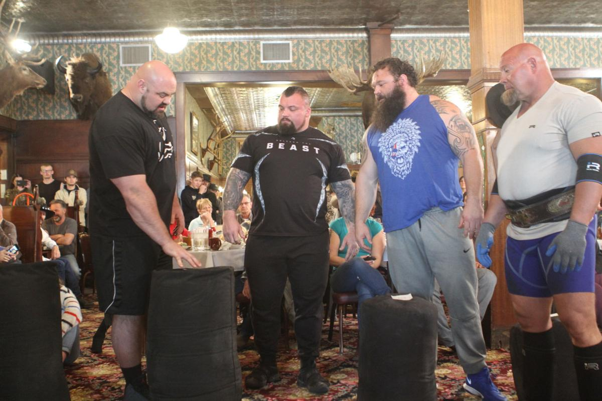 Strongmen wow crowds: Event filmed for History Channel show