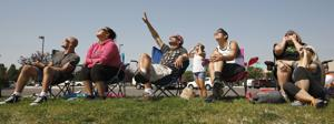 Total solar eclipse: 'It's happening' – People come out to catch view of rare event