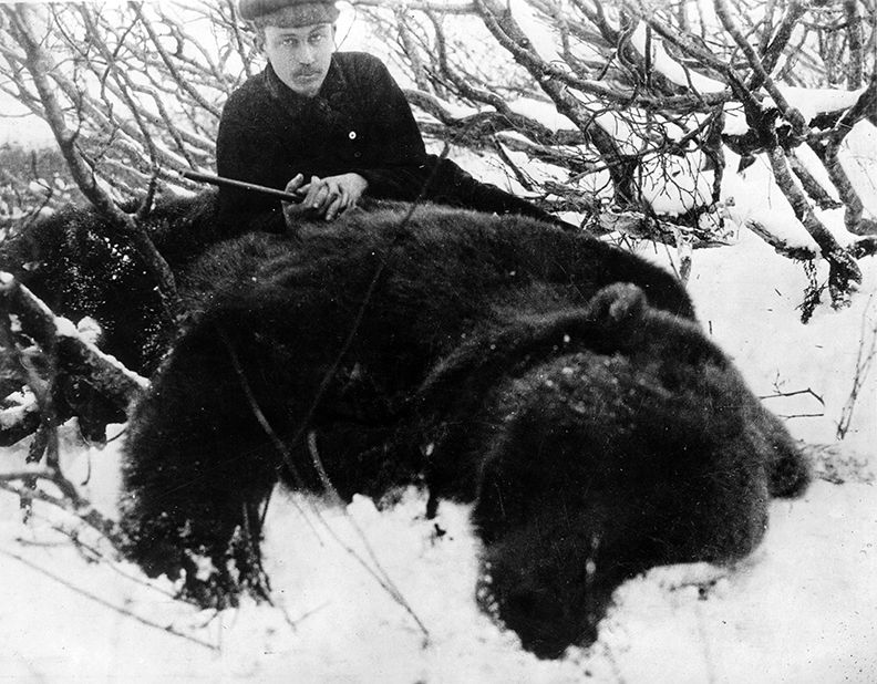 McCracken with bear