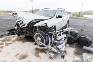 Crash near airport sends two to hospital