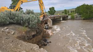 South Fork bridge damaged by high water