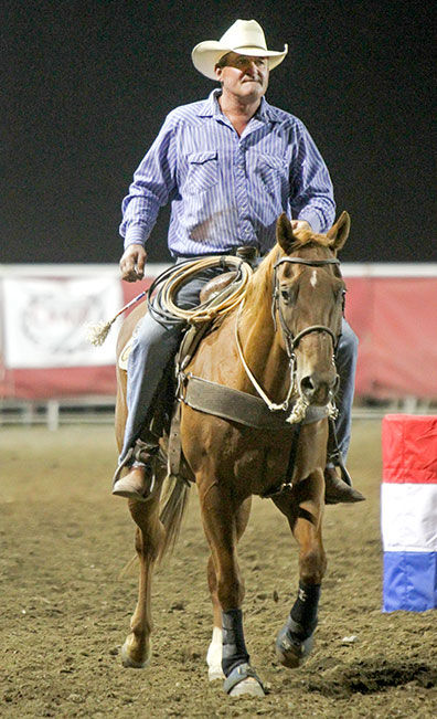 Lamb Stays Busy As Pickup Man Competitor In Rodeo