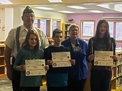 Cody Middle School Students Awarded For Patriotic Essays  People  Winners Of The Patriots Pen Essay Contest Front Row From Left Sophia  Radakovich Caleb Wallace And Hayley Pearsonhorner Stand With Vfw  Representatives