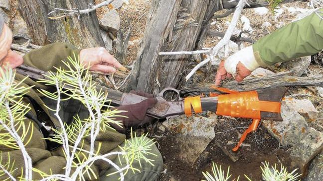 Winchester rifle found in Nevada's Snake Mountains