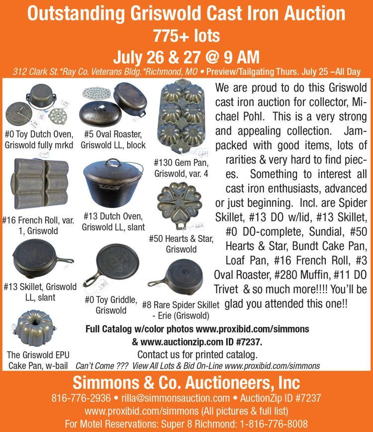 Griswold Cast Iron pieces