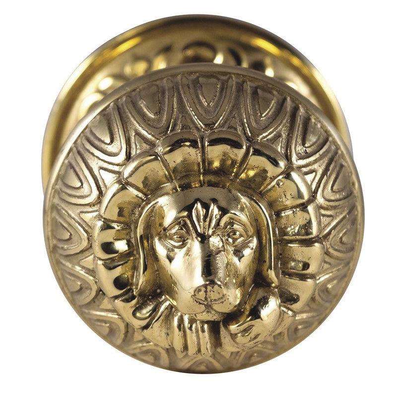 pbp#540 brass doggie doorknob.jpg
