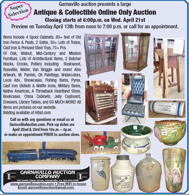 Garnavillo Auction