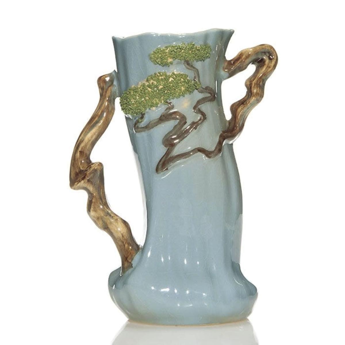 the light blue vase for $431